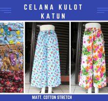 Grosir Celana Kulot Katun Dewasa Murah Bandung