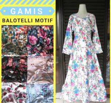 Konveksi Gamis Balotelli Motif Dewasa Murah Bandung