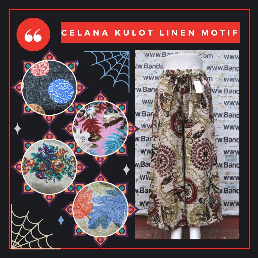 Produsen Celana Kulot Linen Wanita Dewasa Murah
