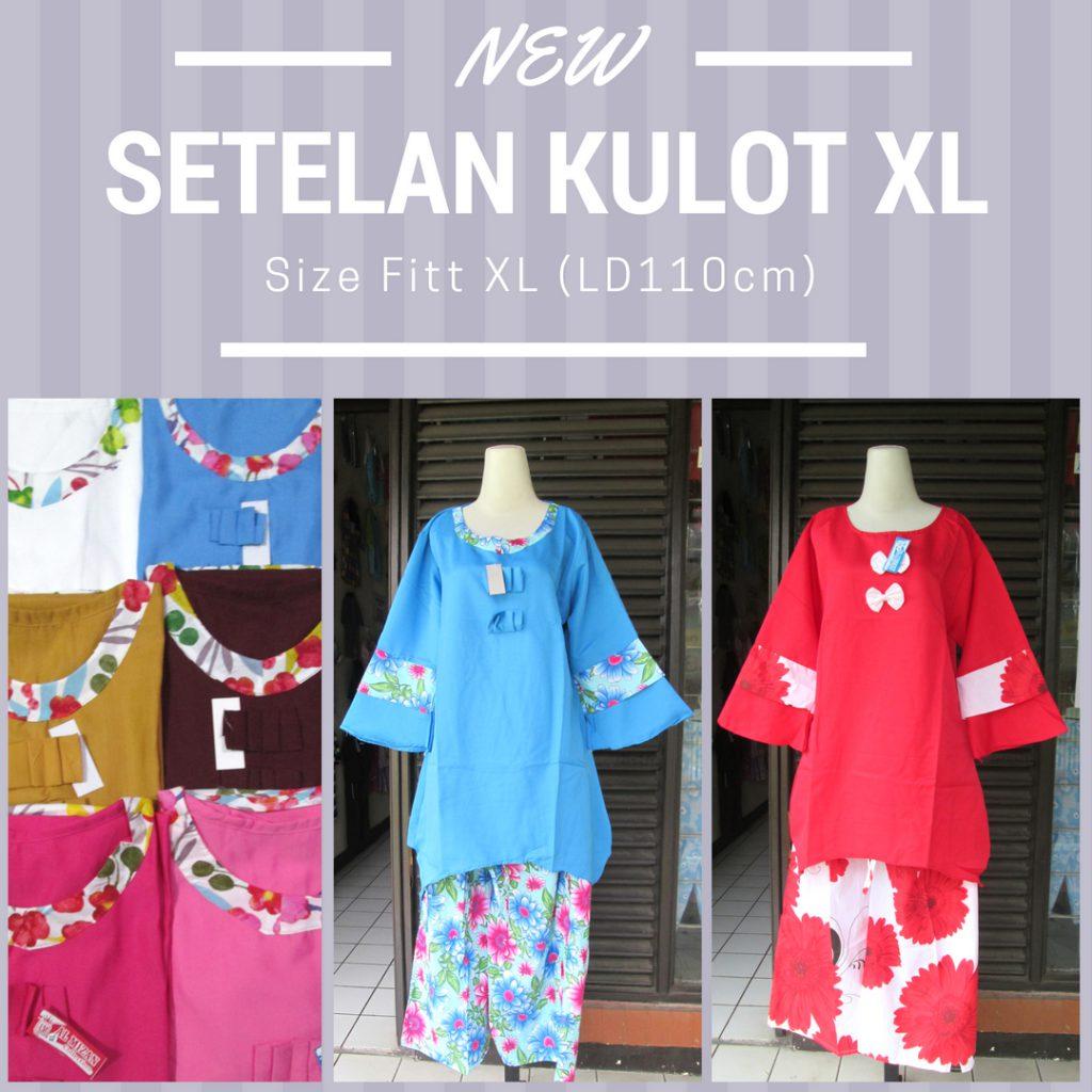 Produsen Setelan Kulot XL Wanita Dewasa Murah Bandung