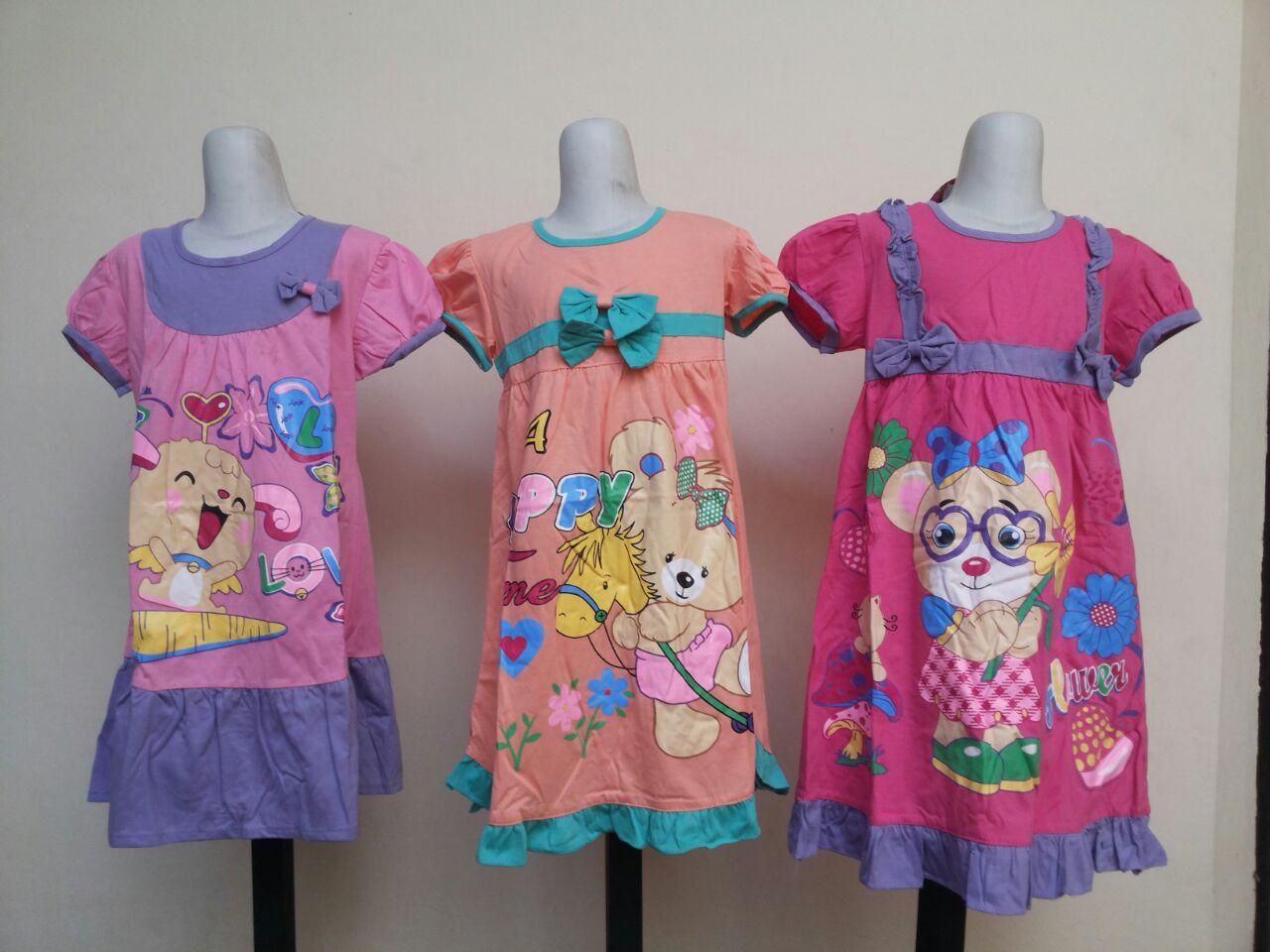 Pusat Grosir Cimahi Grosir Dress Vanessa Karakter Anak Perempuan Murah 27Ribu