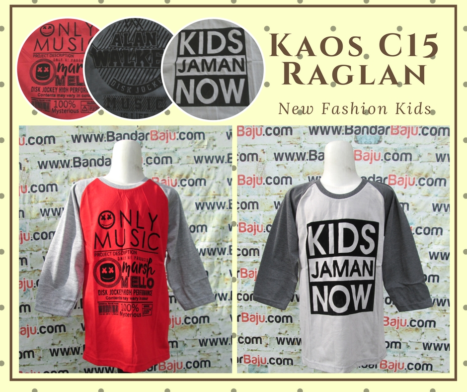 Pusat Grosir Cimahi Konveksi Kaos C15 Raglan Anak Laki Laki Murah Cimahi 14Ribu