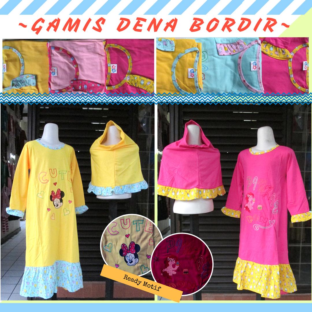 Pusat Grosir Cimahi Distributor Supplier Gamis Dena Bordir Anak Perempuan Murah Cimahi 37Ribu