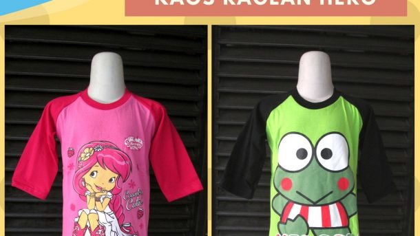 Pusat Grosir Cimahi Supplier Kaos Raglan Hero Anak Karakter Murah Cimahi Rp.19.500