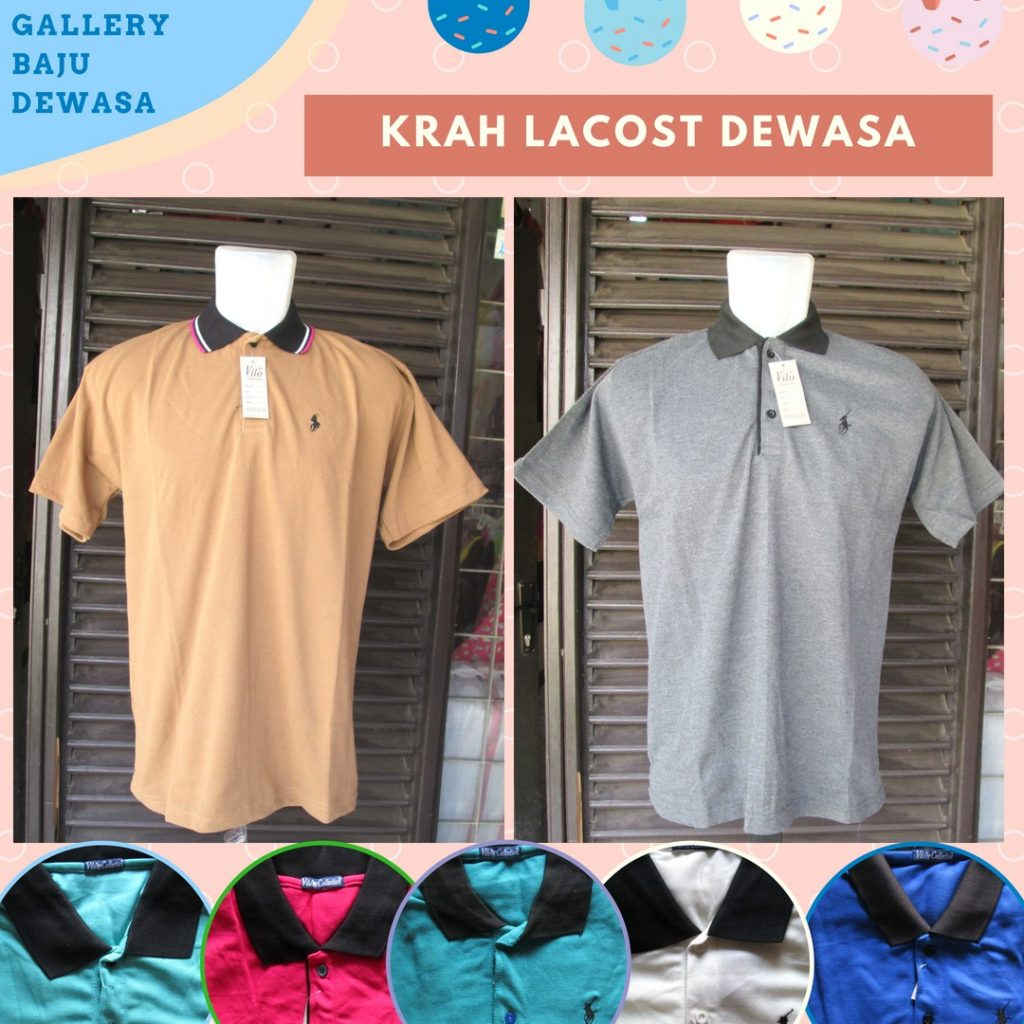 Pusat Grosir Cimahi Distributor Kaos Kerah Lacoste Dewasa Murah di Bandung 25Ribu