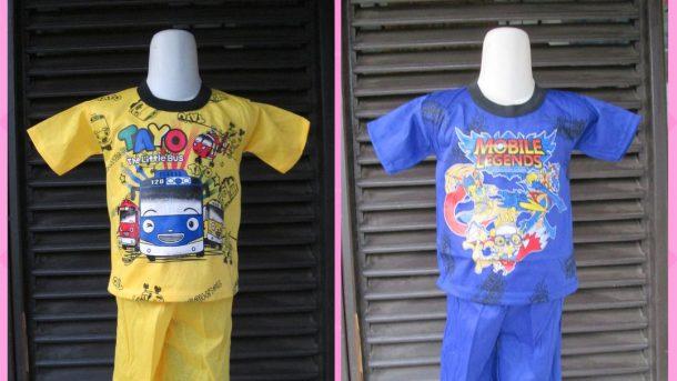 Pusat Grosir Cimahi Distributor Setelan Karakter Anak Murah Terbaru di Cimahi 9000an