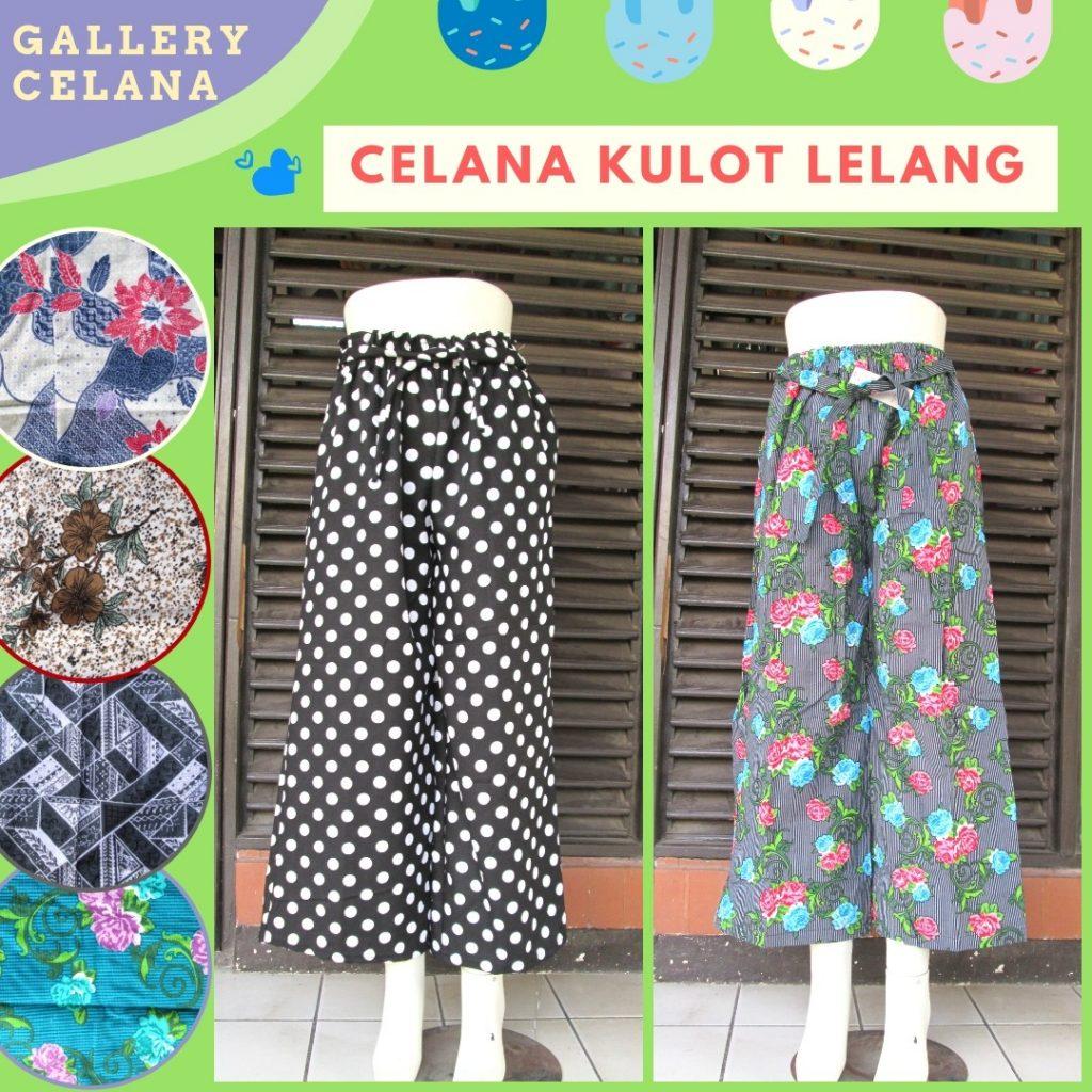 Pusat Grosir Cimahi Konveksi Celana Kulot Linen Lelang Wanita Dewasa Murah di Bandung 28Ribu