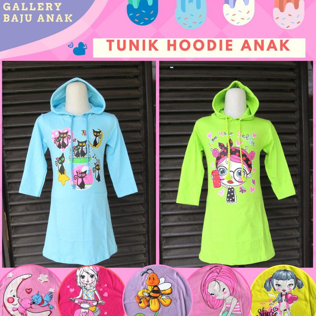 Pusat Grosir Cimahi Supplier Tunik Hoodie Anak Perempuan Terbaru Murah di Cimahi 30Ribu
