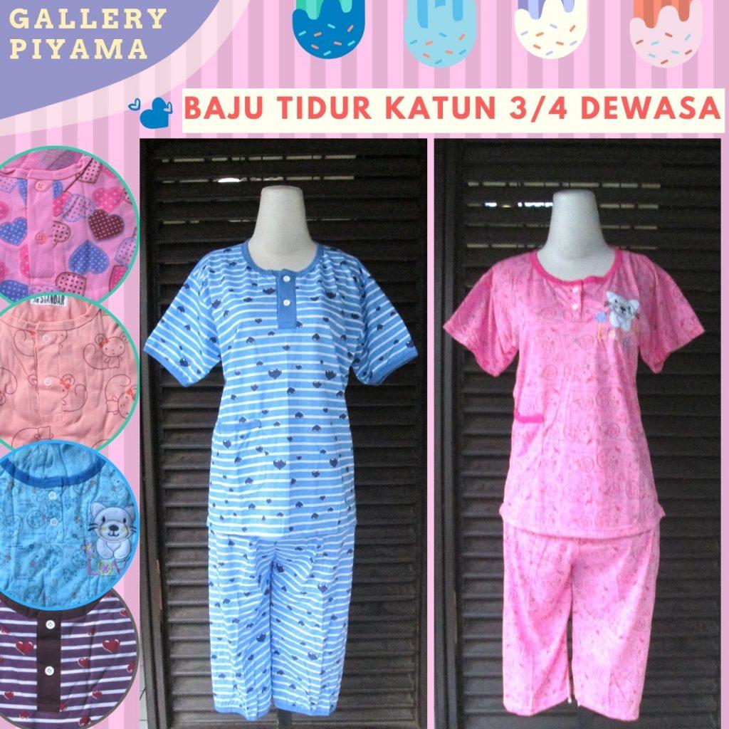PUSAT GROSIR PAKAIAN MURAH CIMAHI BANDUNG Supplier Baju Tidur Katun 3/4 Dewasa Murah di Cimahi 26Ribu