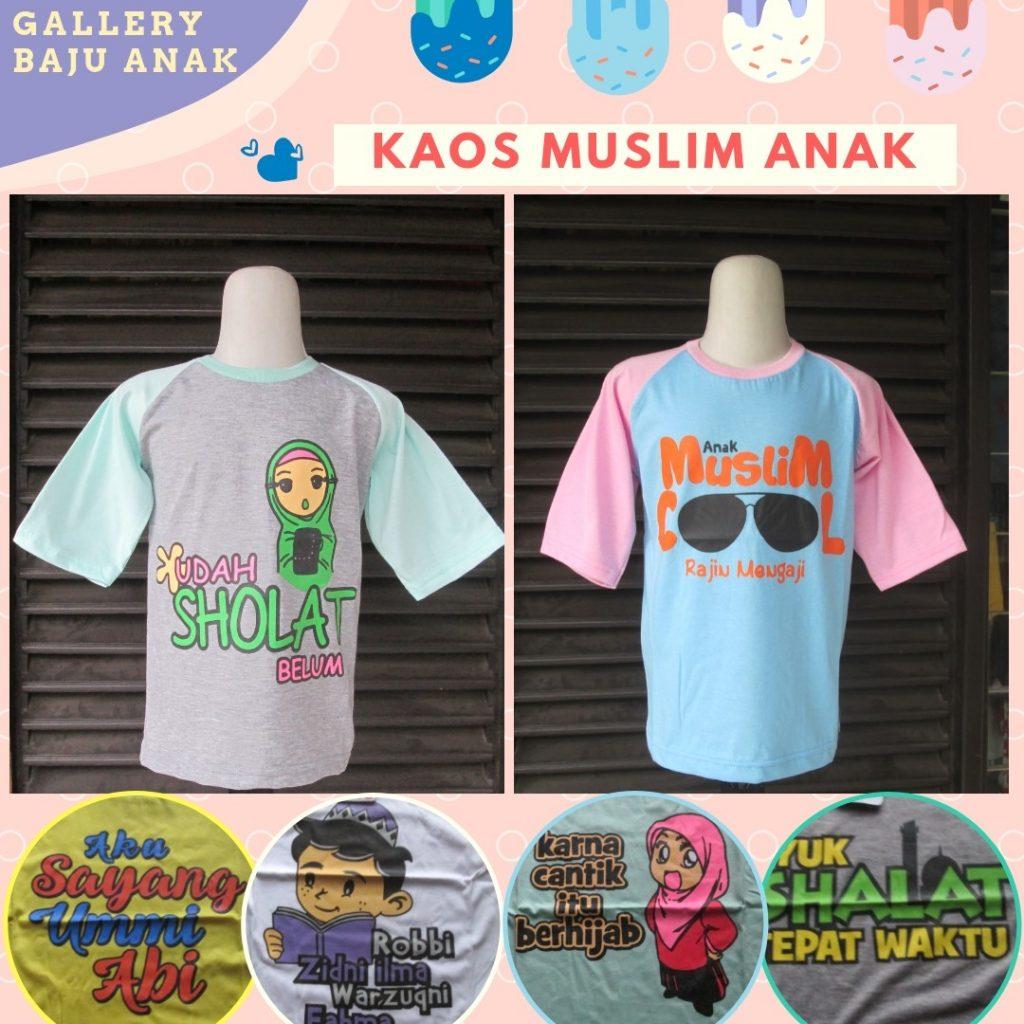 PUSAT GROSIR PAKAIAN MURAH CIMAHI BANDUNG Produsen Kaos Muslim Anak Karakter Terbaru Murah di Cimahi Rp.15.500