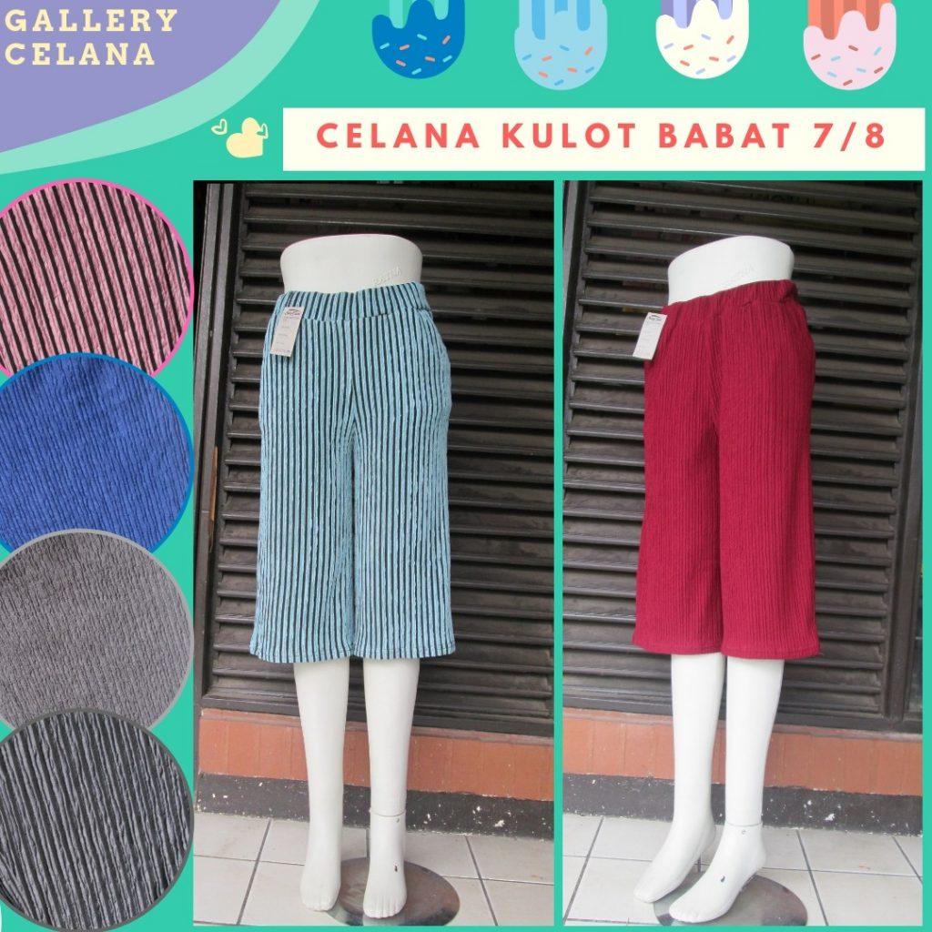 PUSAT GROSIR PAKAIAN MURAH CIMAHI BANDUNG Produsen Celana Kulot Babat 7/8 Dewasa Termurah di Cimahi 26Ribu