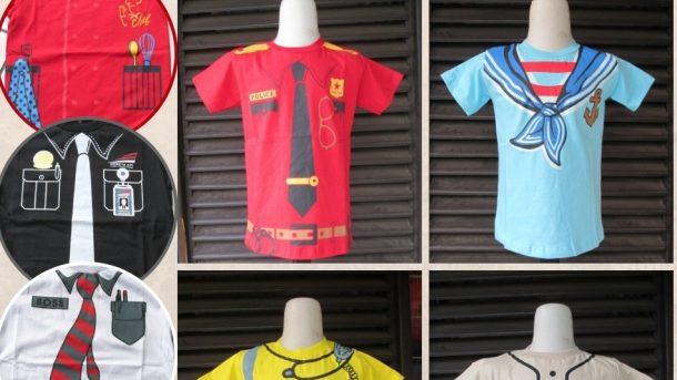 PUSAT GROSIR PAKAIAN MURAH CIMAHI BANDUNG Produsen Kaos 3D Profesi Anak Terbaru Murah di Cimahi Rp.19.500