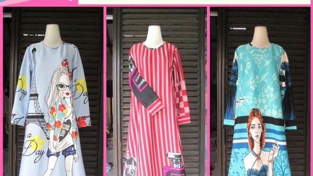 Pusat Grosir Cimahi Supplier Long Dress Scuba Wanita Dewasa Murah di Cimahi 88Ribuan