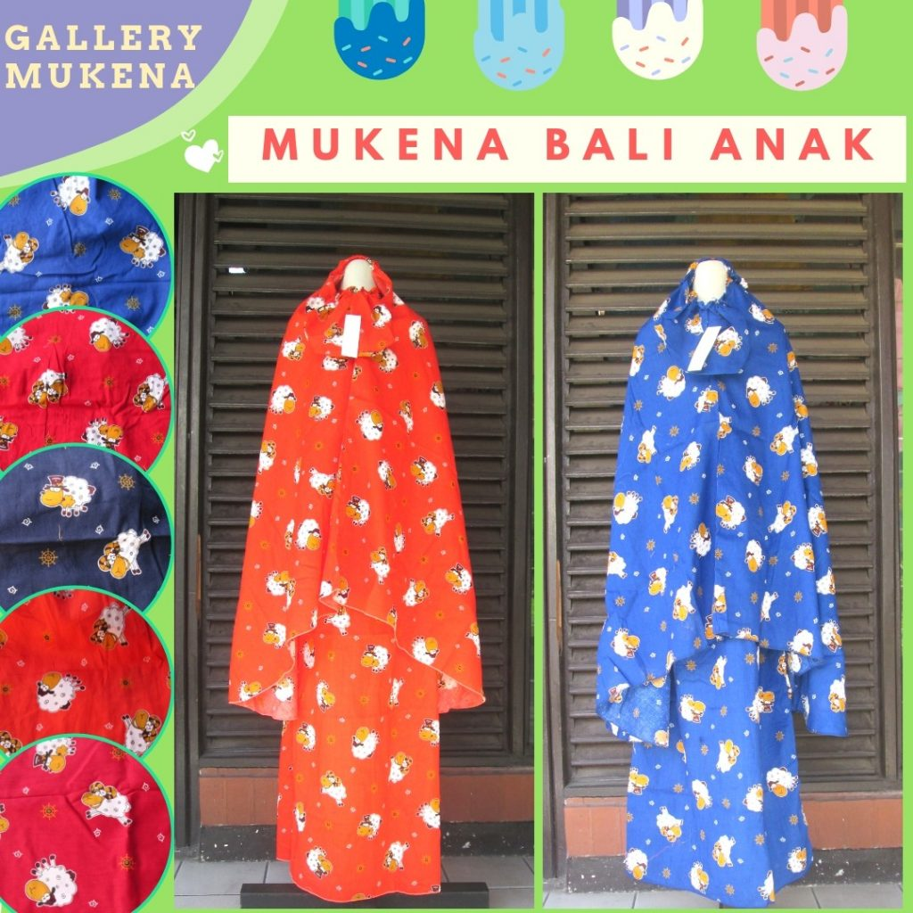 PUSAT GROSIR PAKAIAN MURAH CIMAHI BANDUNG Distributor Mukena Anak Karakter Murah di Cimahi Rp.47.500