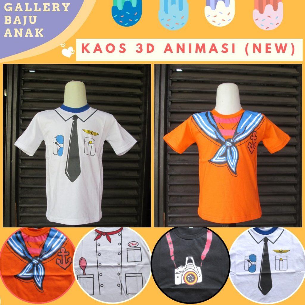 PUSAT GROSIR PAKAIAN MURAH CIMAHI BANDUNG Distributor Kaos 3D Profesi Anak Terbaru Murah di Cimahi 16Ribuan