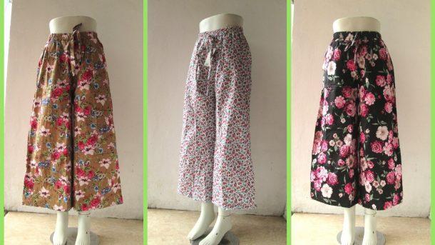 Pusat Grosir Cimahi Distributor Celana Kulot Motif Dewasa Terbaru Murah di Cimahi 35Ribuan