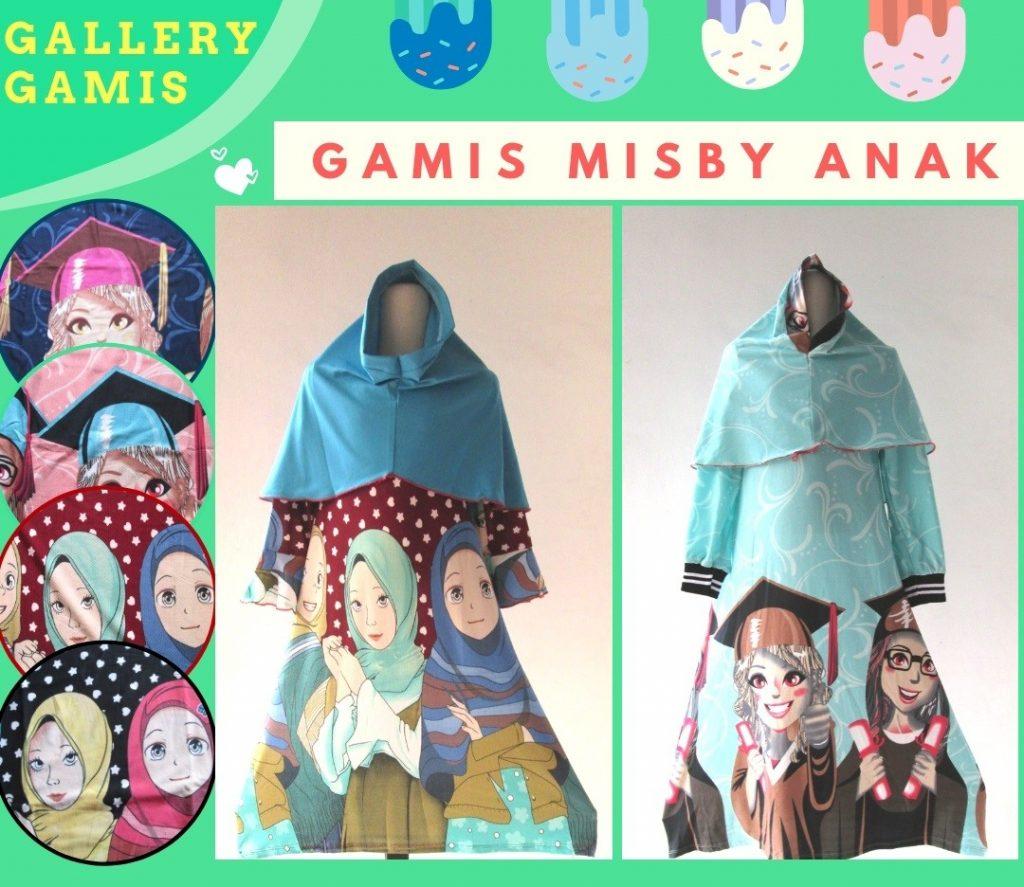 Pusat Grosir Cimahi Supplier Gamis Misby Anak Perempuan Karakter Murah di Cimahi 38Ribuan