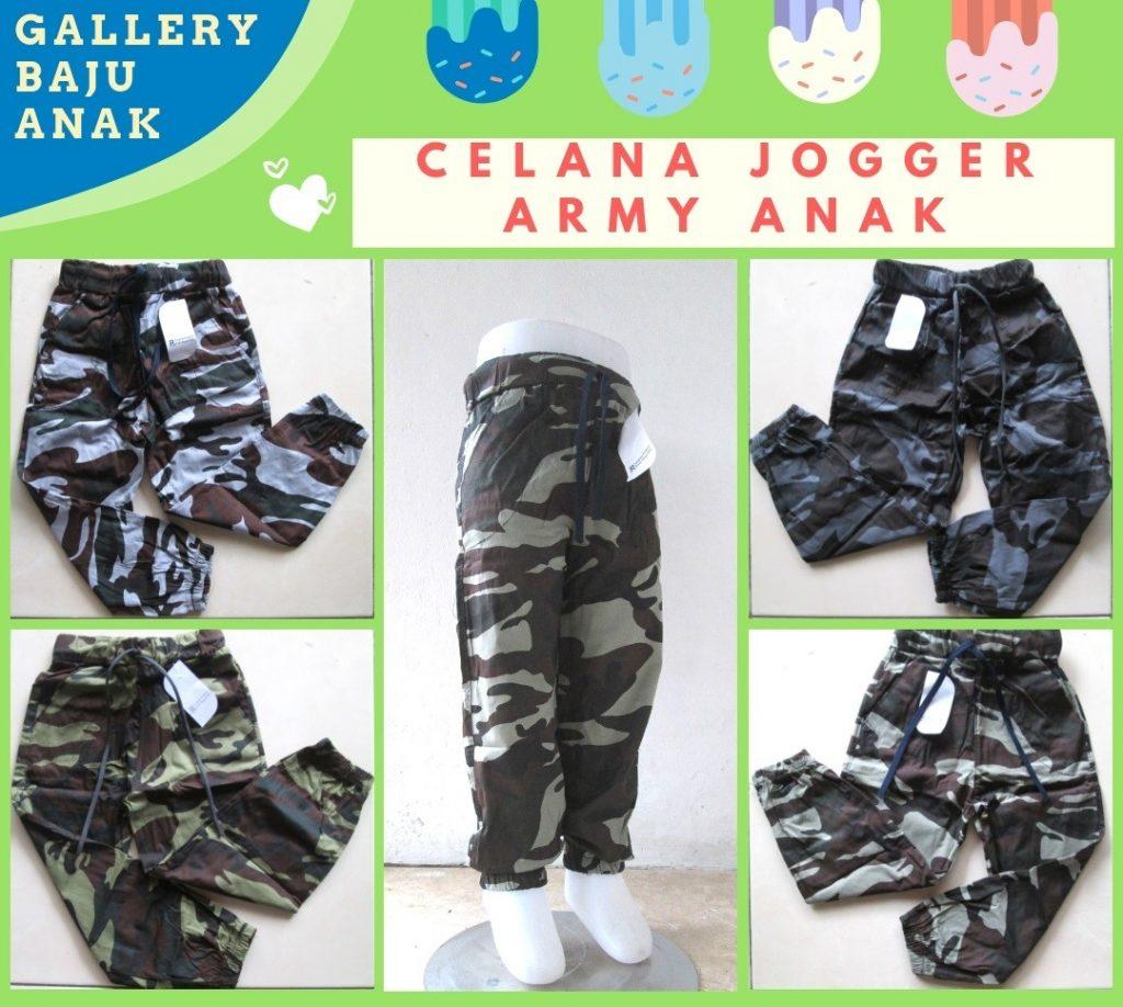 Pusat Grosir Cimahi Produsen Celana Jogger Army Anak Terbaru Murah di Bandung Rp.17.500