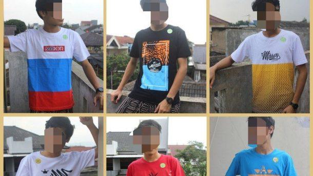Pusat Grosir Cimahi Konveksi Kaos Distro Surfing Mirror Brand Dewasa Murah di Bandung 36Ribuan