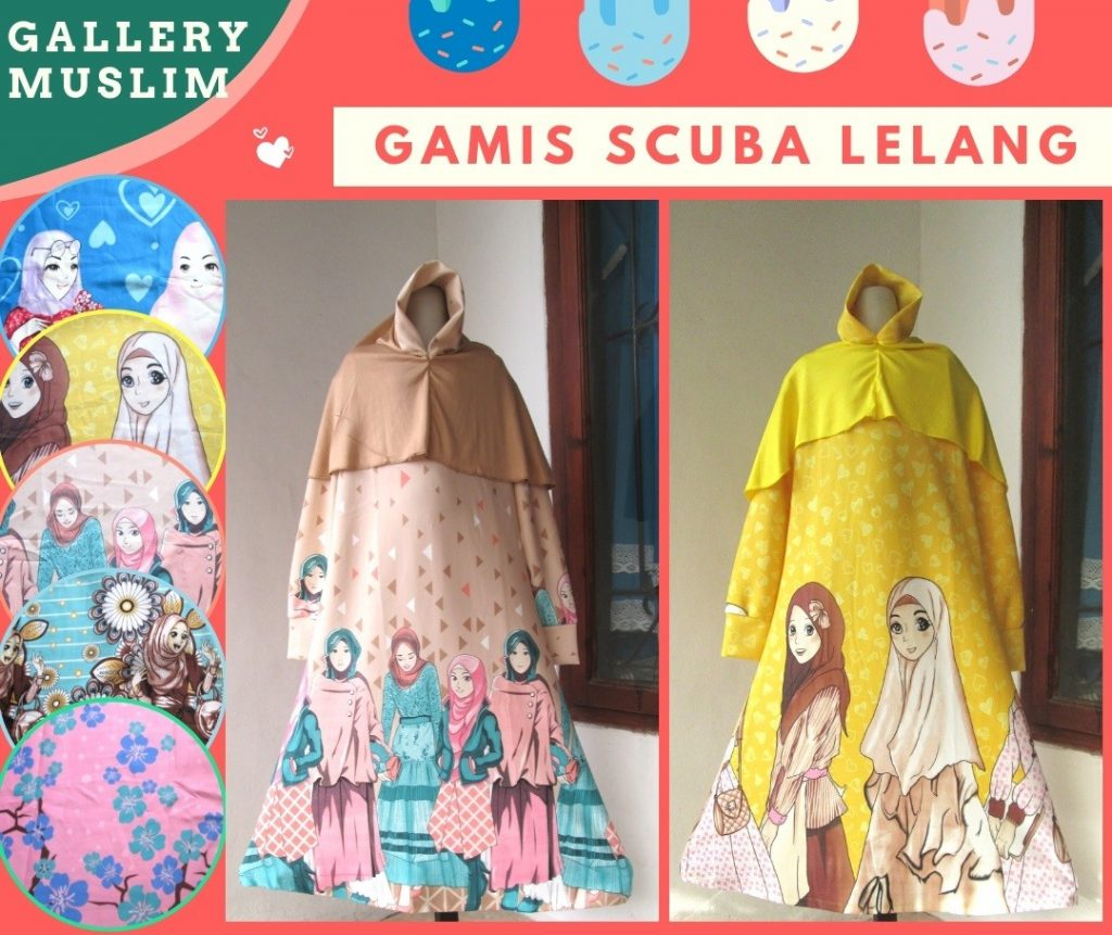 Pusat Grosir Cimahi Supplier Gamis Scuba LELANG Anak Perempuan Murah di Bandung 58RIBUAN