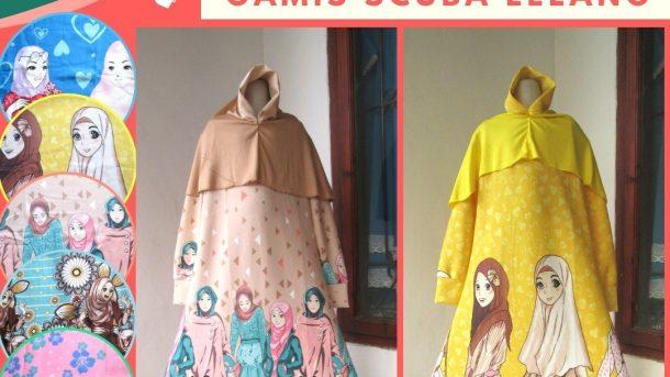 PUSAT GROSIR PAKAIAN MURAH CIMAHI BANDUNG Supplier Gamis Scuba LELANG Anak Perempuan Murah di Bandung 58RIBUAN