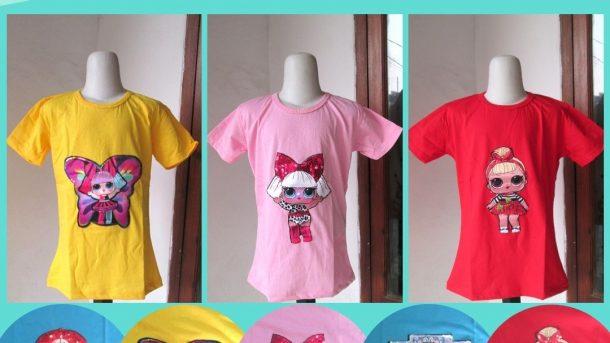 Pusat Grosir Cimahi Konveksi Kaos LED Karakter LOL Anak Perempuan Murah di Cimahi 29RIBUAN