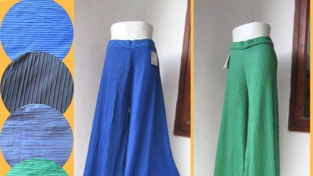Pusat Grosir Cimahi Konveksi Celana Kulot Plisket Wanita Dewasa Murah di Cimahi 30Ribuan