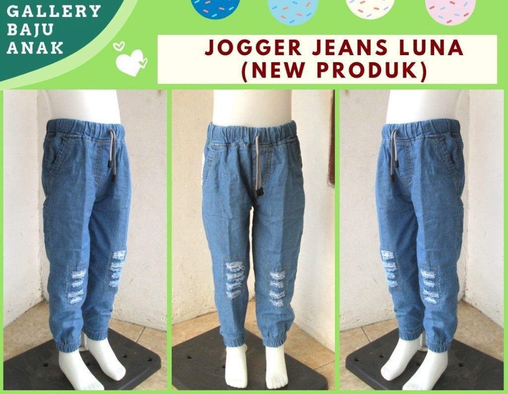 PUSAT GROSIR PAKAIAN MURAH CIMAHI BANDUNG Supplier Celana Jogger Jeans Luna Anak Tanggung Murah di CIMAHI 30RIBUAN