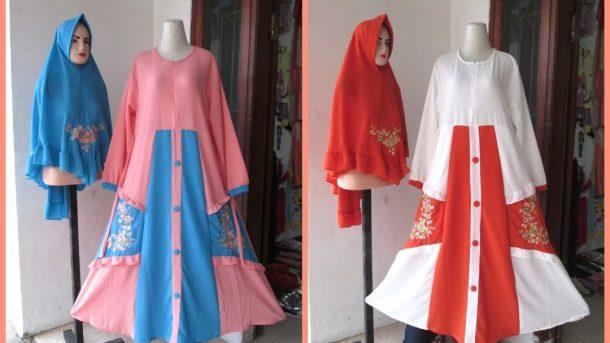 PUSAT GROSIR PAKAIAN MURAH CIMAHI BANDUNG Produsen Gamis Bubbler Bordir Wanita Dewasa Termurah di Bandung 120RIBUAN