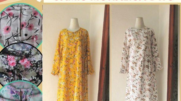 Pusat Grosir Cimahi Supplier Gamis Monalisa Wanita Muslimah Dewasa Termurah di Cimahi Hanya 55RIBUAN