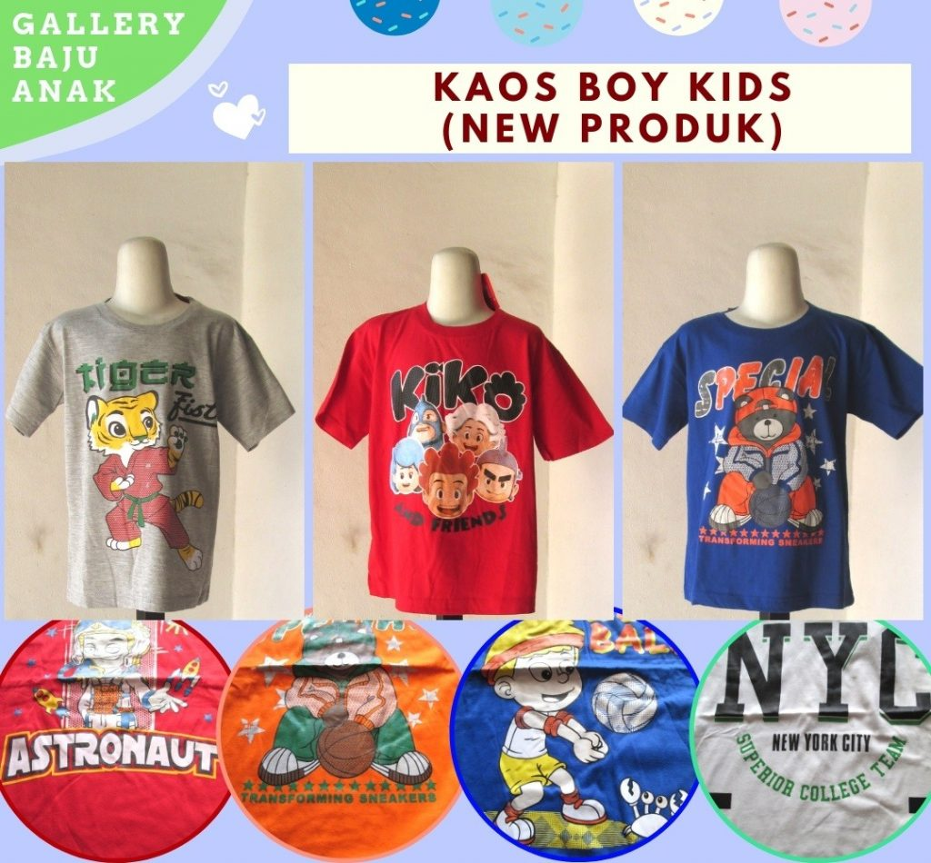 Pusat Grosir Cimahi Produsen Kaos Boy Kids Karakter Anak Laki Laki Murah di Cimahi Hanya 17RIBUAN