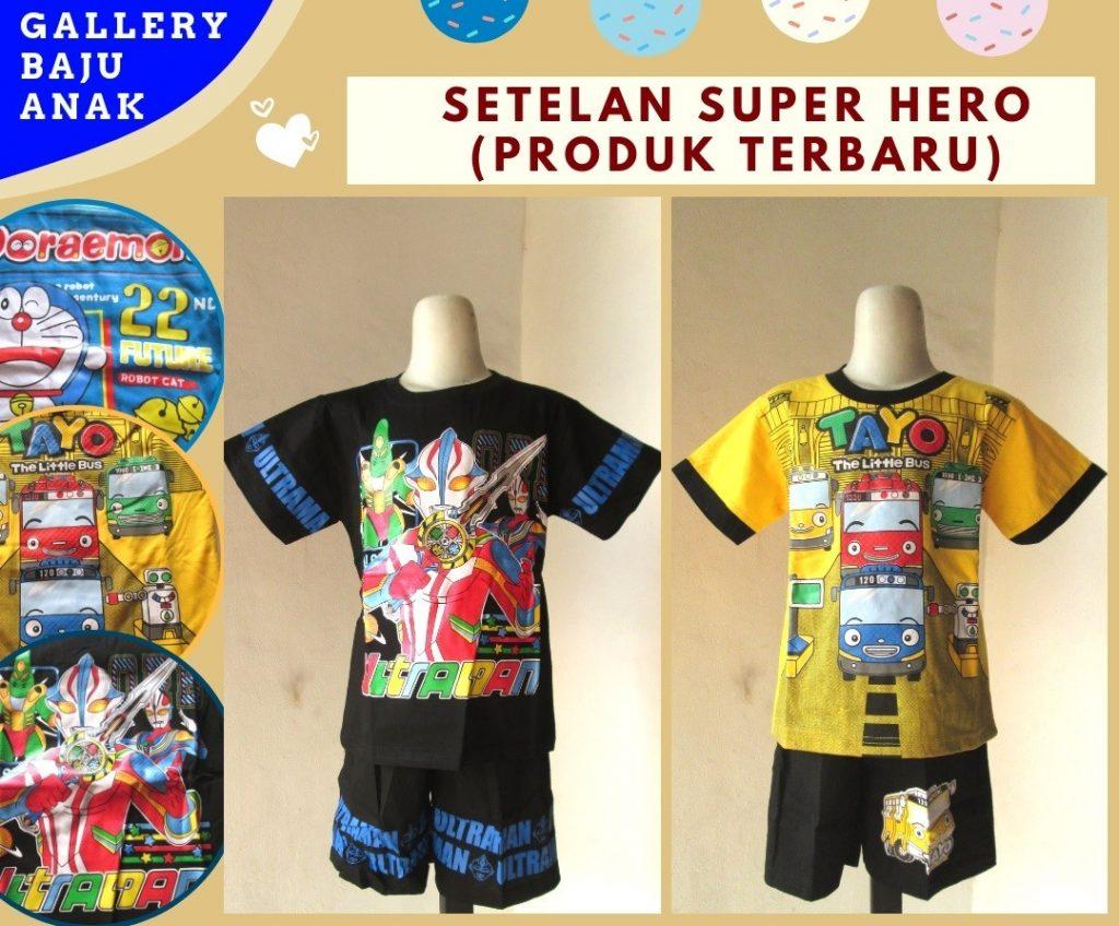 PUSAT GROSIR PAKAIAN MURAH CIMAHI BANDUNG Distributor Setelan Super Hero Anak Laki Laki Murah di Cimahi Mulai 23RIBUAN