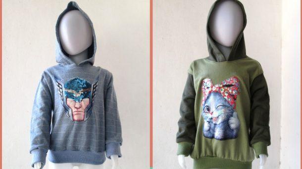 Pusat Grosir Cimahi Grosiran Sweater Hero LED Anak Karakter Bisa Menyala Murah di Cimahi 30RIBUAN