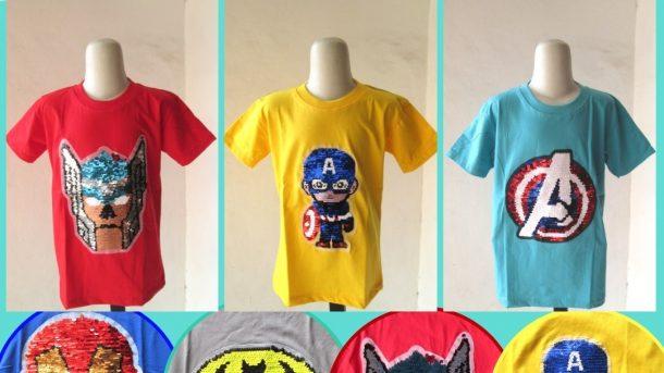 Pusat Grosir Cimahi Supplier Kaos Usap Anak Laki Laki Karakter Bisa Berubah Warna Murah Hanya 28RIBUAN