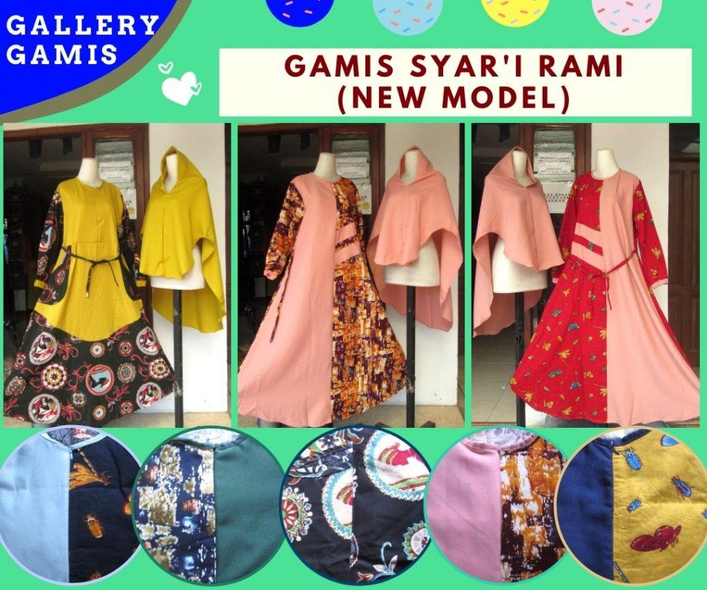 Pusat Grosir Cimahi Konveksi Gamis Syar'i Rami Wanita Muslimah Dewasa Terbaru Murah di Bandung 86RIBUAN