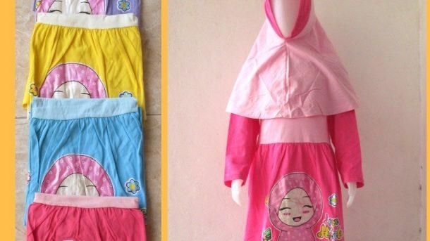 PUSAT GROSIR PAKAIAN MURAH CIMAHI BANDUNG Produsen Gamis Dedina Anak Perempuan Karakter Muslim Termurah Hanya 37RIBUAN