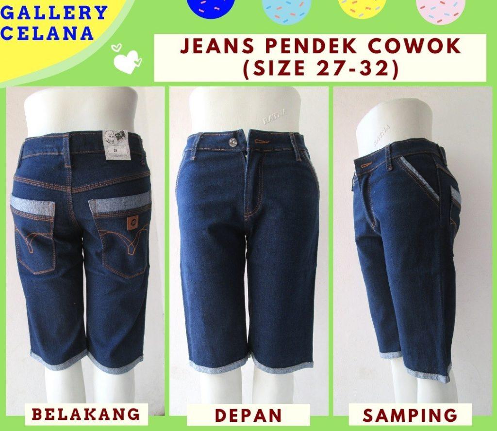Pusat Grosir Cimahi Supplier Celana Jeans Denim Pendek Pria Dewasa Termurah Hanya Rp.39.500