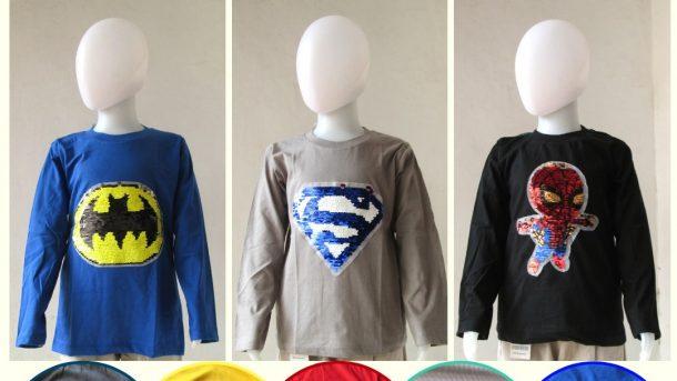 Pusat Grosir Cimahi Reseller Kaos Usap Tangan Panjang Anak Karakter Terbaru Murah Hanya Rp.31.000