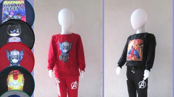 PUSAT GROSIR PAKAIAN MURAH CIMAHI BANDUNG Konveksi Setelan Sweater LED Anak Karakter Bisa Menyala TERMURAH Hanya 39RIBUAN
