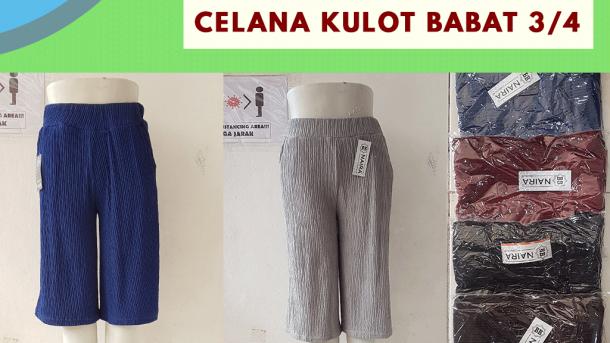 PUSAT GROSIR PAKAIAN MURAH CIMAHI BANDUNG Konveksi Celana Kulot Babat 3/4 di Bandung Rp 26,000