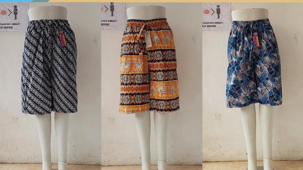 PUSAT GROSIR PAKAIAN MURAH CIMAHI BANDUNG Supplier Celana Kulot Motif 3/4 di Bandung Rp 28,000