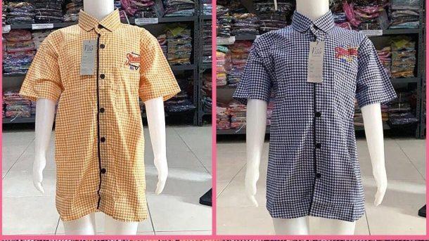 Pusat Grosir Cimahi Distributor Kemeja Stretch Anak di Bandung Rp 27.000