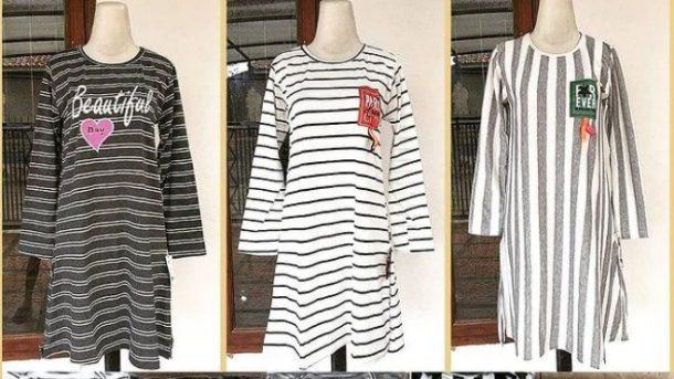 PUSAT GROSIR PAKAIAN MURAH CIMAHI BANDUNG Distributor Dress Salur Dewasa di Bandung Rp 24,000