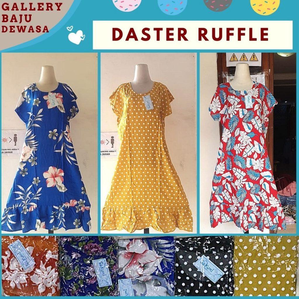 PUSAT GROSIR PAKAIAN MURAH CIMAHI BANDUNG Produsen Daster Ruffle Motif di Bandung Rp 35000