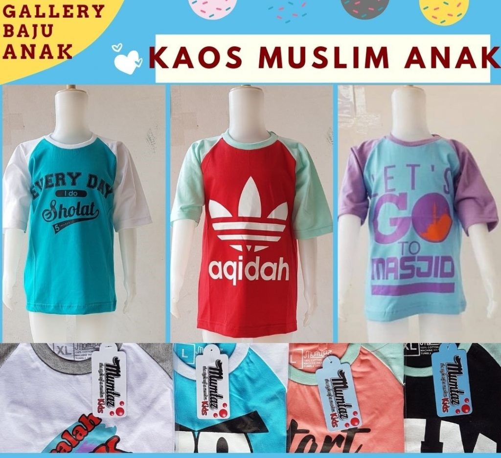 PUSAT GROSIR PAKAIAN MURAH CIMAHI BANDUNG Distributor Kaos Muslim Anak di Bandung Rp 15500