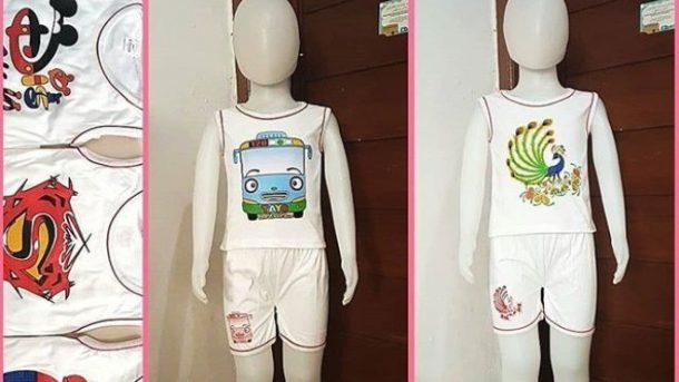 Pusat Grosir Cimahi Grosir Setelan Singlet Anak di Bandung Rp 15000