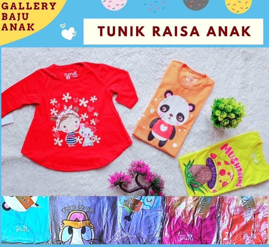 PUSAT GROSIR PAKAIAN MURAH CIMAHI BANDUNG Distributor Tunik Raisa Anak di Bandung Rp 17500