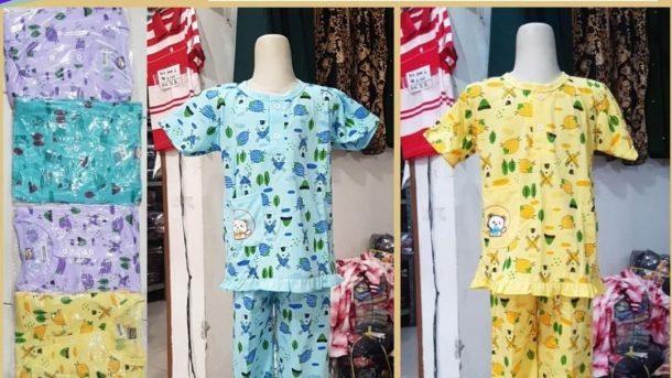 PUSAT GROSIR PAKAIAN MURAH CIMAHI BANDUNG Pabrik Babydoll Cotton Anak Tangan Pendek di Bandung 22,000