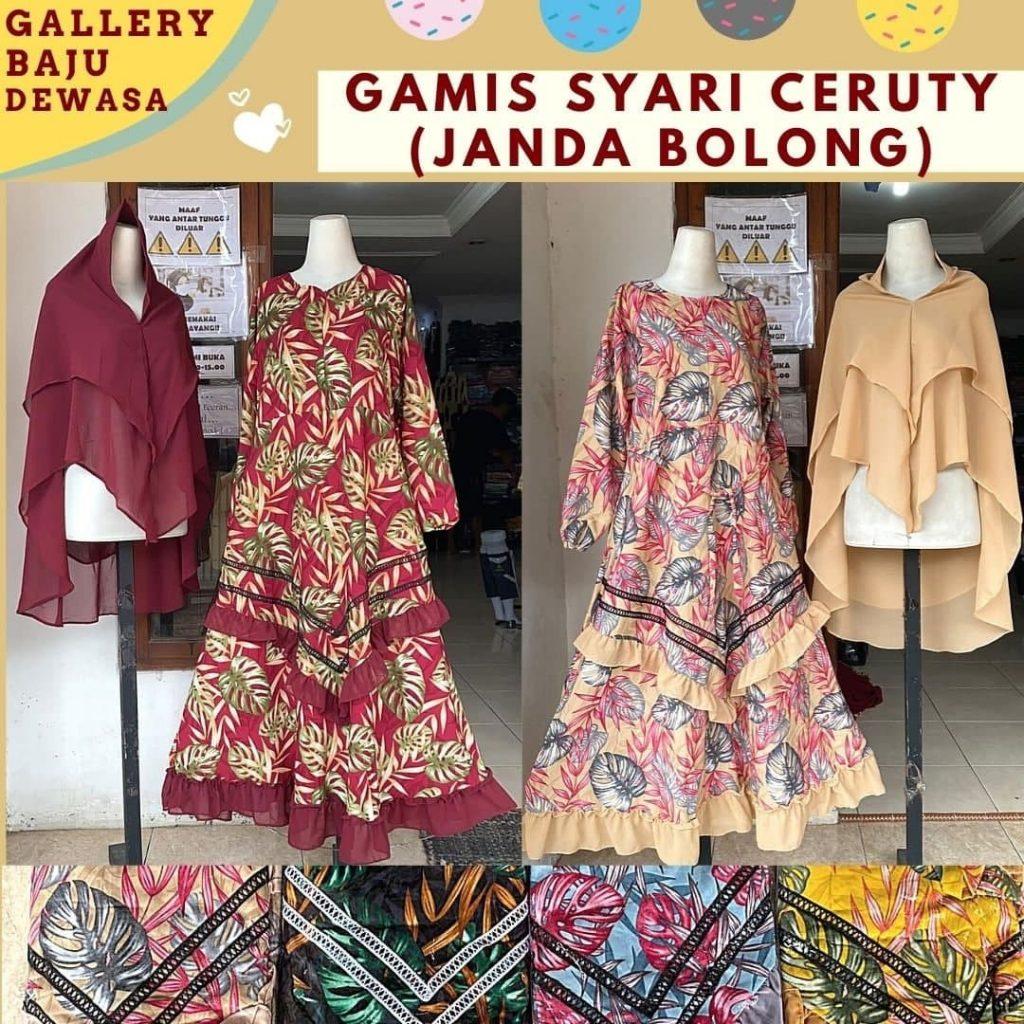 Pusat Grosir Cimahi Produsen Gamis Syar'i Dewasa di Bandung Rp 105,000