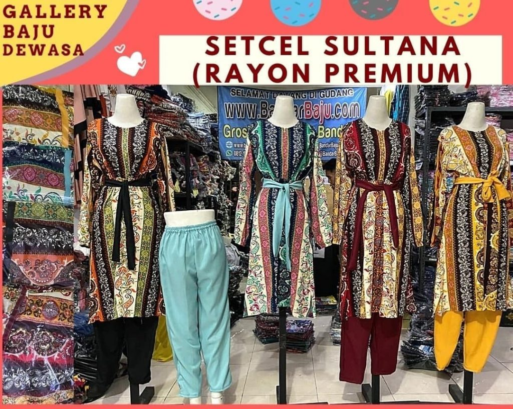 PUSAT GROSIR PAKAIAN MURAH CIMAHI BANDUNG Pabrik Setelan Sultan Dewasa di Bandung Rp 94,000